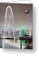 Margaret Hunt Hill Bridge Flag Greeting Card
