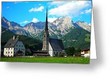 Maria Alm Am Steinernen Meer Greeting Card