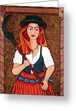 Maria Da Fonte - The Revolt Of Women Greeting Card