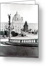 Maria Theresien Platz Greeting Card