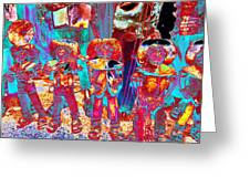 Mariachi Abstract Greeting Card