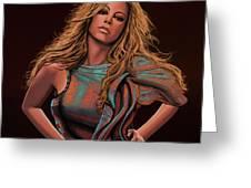 Mariah Carey Painting Greeting Card