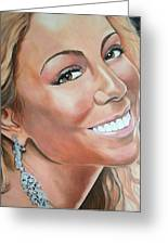 Mariah Carey Greeting Card by Timothe Winstead