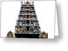Mariamman Temple 4 Greeting Card