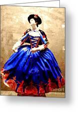 Marie Antoinette Figurine In New Orleans Greeting Card