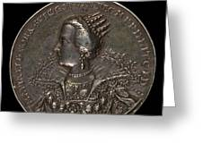 Marie Eleonora Of Brandenburg, 1599-1655, Queen Of Sweden 1620 [reverse] Greeting Card