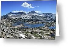 Marie Lake Panorama From High Above - John Muir Trail Greeting Card