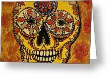 Marigold Skull Greeting Card
