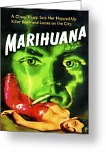 Marihuana Greeting Card