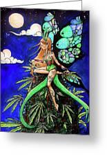 Marijuana Fairy Greeting Card