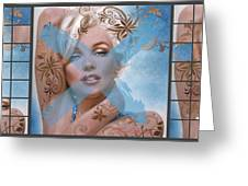 Marilyn 127 Tryp Greeting Card by Theo Danella
