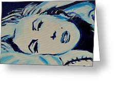 Marilyn In Blue Greeting Card