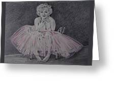 Marilyn In Pink Greeting Card