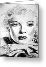 Marilyn In Pose Greeting Card