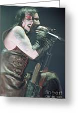 Marilyn Manson Greeting Card