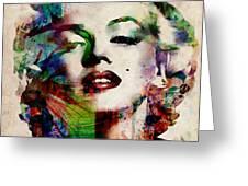 Marilyn Greeting Card by Michael Tompsett