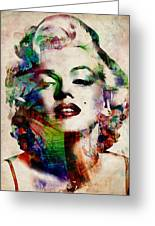 Marilyn Greeting Card by Michael Tompsett