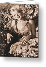 Marilyn Monroe 126 A 'sepia' Greeting Card