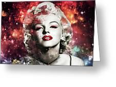 Marilyn Monroe   Colorful  Greeting Card