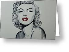 Marilyn Monroe Dripping Greeting Card