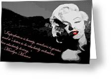 Marilyn Monroe Imperfection Is Beauty Greeting Card by Brad Scott
