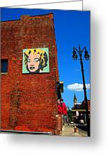 Marilyn Monroe In Detroit Greeting Card by Guy Ricketts