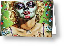 Marilyn Monroe Jfk Day Of The Dead  Greeting Card
