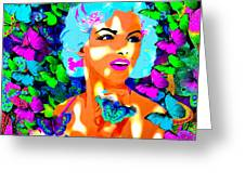 Marilyn Monroe Light And Butterflies Greeting Card