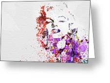 Marilyn Monroe Greeting Card by Naxart Studio