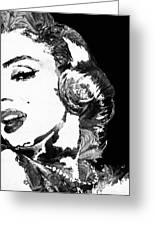 Marilyn Monroe Painting - Bombshell Black And White - By Sharon Cummings Greeting Card