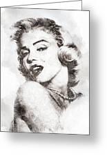Marilyn Monroe Portrait 01 Greeting Card