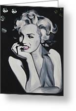 Marilyn Monroe Portrait Greeting Card by Mikayla Ziegler