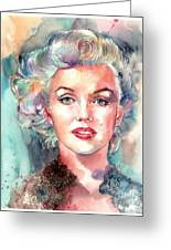 Marilyn Monroe Portrait Greeting Card