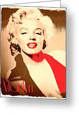 Marilyn Retro Poster Greeting Card