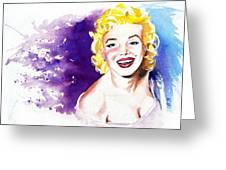 Marilyn Monroe Sunny Greeting Card