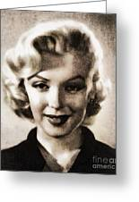 Marilyn Monroe, Vintage Actress Greeting Card