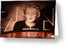 Marilyn Over The Red Carpet Greeting Card