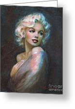 Marilyn Romantic Ww Dark Blue Greeting Card