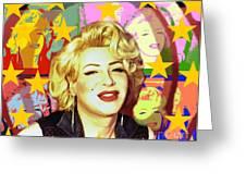 Marilyn Superstar Pop Greeting Card