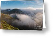 Marin Headlands Fog Rising - Sausalito Marin County California Greeting Card