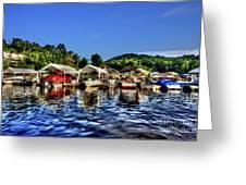 Marina At Cheat Lake Clear Day Greeting Card