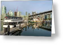 Marina At Granville Island In Vancouver Bc Greeting Card