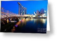Marina Bay Sand Greeting Card by Yew Kwang