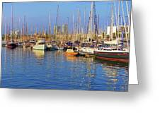 Marina - Darcena Nacional - Barcelona Greeting Card