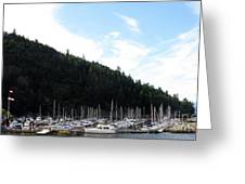 Marina In B.c. Greeting Card