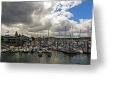 Marina In Olympia Washington Waterfront Greeting Card