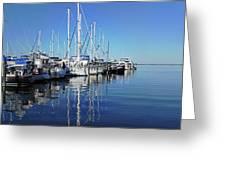 Marina On A Calm Day Greeting Card