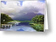 Marina On The Intracoastal Waterway  South Carolina Greeting Card