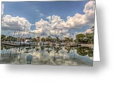 Marina Reflections Greeting Card