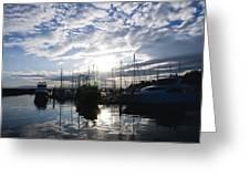 Marina Sunset Greeting Card